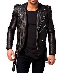 blue motorbike jacket men leather jacket stylish slim fit soft lambskin bomber biker