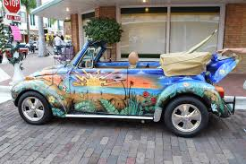 vintage volkswagen convertible custom painted vw beetle convertible fort myers classic car