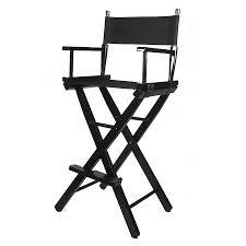 chaise de cinéma en bois noir pliable maquillage artiste cinéma studio