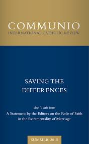 the saving difference articles communio
