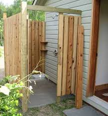 Backyard Shower Ideas Outdoor Shower Wood Designing Outside Shower Ideas Step By Step