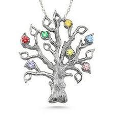 Children S Birthstone Necklace Facebook Title Family Tree Necklace Tree Necklace And Family Trees