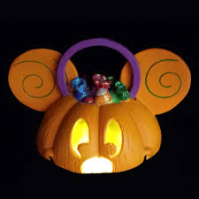 pumpkin lights your wdw store disney ears ornament mickey mouse