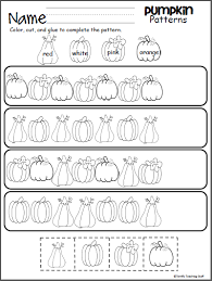 pumpkin patterns worksheet u2013 madebyteachers