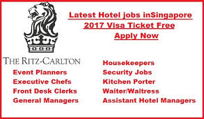 Desk Security Jobs Latest Hotel Jobs In Singapore 2017 Visa Ticket Free Apply Now