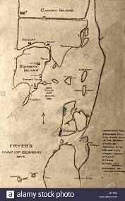 Bombay India Map by Old Vintage Map Of Fryer Mumbai Maharashtra India Asia Stock