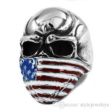 steel skull rings images Best american flag infidel skull ring stainless steel jewelry jpg