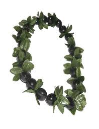 kukui nut black kukui nut and point leaf leis hawaii shaka time hawaii