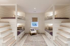 Built In Bunk Bed Bunk Bed Pictures Bedroom Beach Style With Contemporary Interior