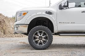 nissan titan wheel spacers rough country pocket fender flares w rivets for 2017 nissan titan