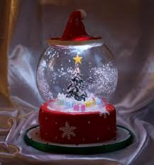 light up snow globe awesome snow globe cake with led lights you take the cake