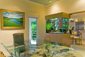 Decor For Dining Room Unusual Fish Tank Decorations With Wooden Frame And Glass Panels