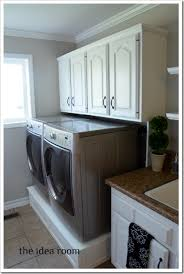 Washer And Dryer Cabinet Laundry Room Tour The Idea Room