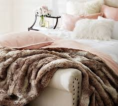 fur throws for sofas faux fur throw caramel ombre pottery barn