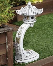 medium curved japanese pagoda lantern garden ornament