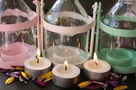 porta candele portacandele fai da te perfetti alleati delle sere d estate