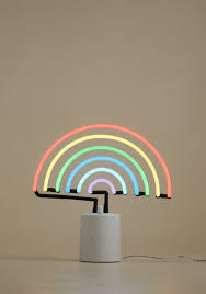 Banana Themed Lamps We All Need Somebody To Neon Light In Rainbow Quirky Decor Neon