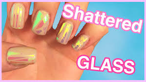 diy glass nails 5 different cellophane styles youtube