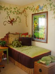 Bedroom Jungle Wall Stickers Jungle Themed Room Decor Tropical Rainforest Wallpaper For Walls