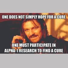 Alpha Meme - awareness month alpha 1 foundation