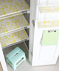 line pantry shelves with foam board and pretty liner iheart