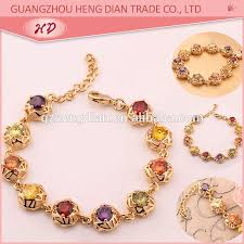 bracelet jewelry designs images Free sample new fashion style gold plated zircon stone women jpg