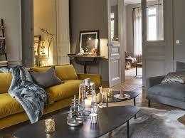 canapé jaune moutarde quelle déco pour un salon avec un canapé jaune