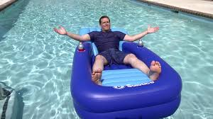cooler couch pool lounger travel channel
