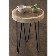 teak wood end table pine canopy nantahala brown teakwood round accent table free