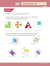 libro texto matematicas sexto grado ciclo 2015 2016 qué fracción es bloque ii lección 28 apoyo primaria