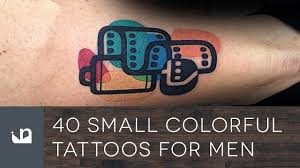 hand tatto for men 40 small colorful tattoos for men youtube