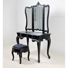 Linon Home Decor Vanity Set With Butterfly Bench Black by Bedroom Makeup Vanity Set Girls Vanity Table Vanity Table And