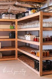 Wood Shelf Plans Diy by 25 Best Diy Garage Shelves Ideas On Pinterest Diy Garage