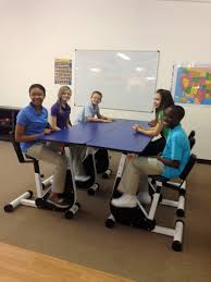 Desk Pedal The 6 Person Pedal Desk By Kidsfit Great For Students Who