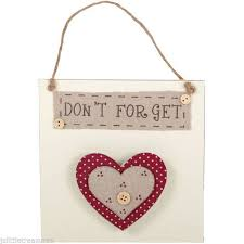 Shabby Chic Shopping by Shabby Chic Shopping List Hanger With Hessian Button Heart Mothers