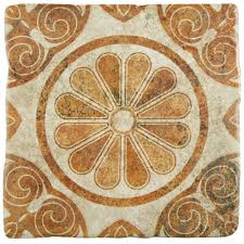 8x8 ceramic floor wall tile ceramic tile the home depot costa arena decor daisy 7 3 4 in x 7 3
