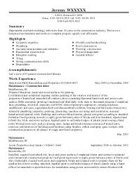 Construction Laborer Resume Examples by Construction Laborer Resume Example Asphalt Maintenance Omaha