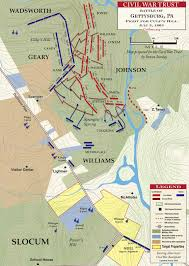 Map Of Usa During Civil War by Gettysburg Fight For Culp U0027s Hill July 3 1863 Civil War Trust