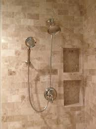 travertine tile ideas bathrooms shower kohler bancroft plumbing cappuccino beige marble ivory