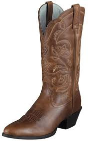 womens cowboy boots s heritage r toe cowboy boots russet rebel