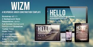 html layout under wizm is responsive under construction by jogres themeforest