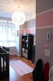 peyton u0027s pink and gray nursery pink striped walls nursery gray