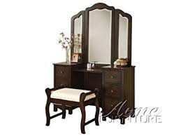 bedroom vanity amazon com acme furniture jasper espresso bedroom vanity and stool