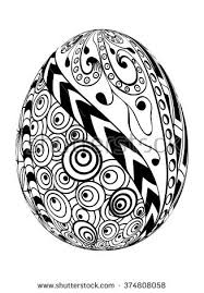 Easter Egg Decoration Vector by Zentangle Easter Egg Decorative Ornate Isolated Stock Vector