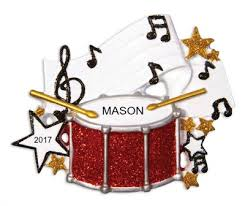 personalized ornaments band drum