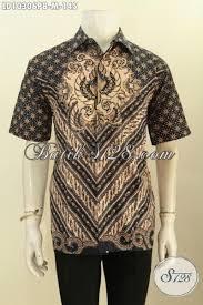 desain baju batik untuk acara resmi hem batik klasik elegan desain mewah bahan adem proses printing