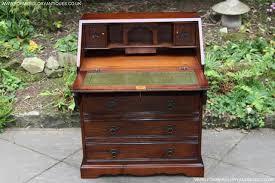Old Charm Tudor Oak Laptop Writing Table Desk Bureau For Sale In