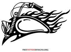 tribal biker tattoo design template and printables pinterest