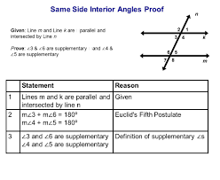Same Side Interior Angles Definition Geometry Table Of Contents Lines Intersecting Parallel U0026 Skew Ppt Download