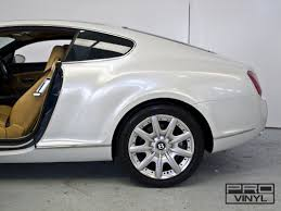 matte white bentley vehicle vinyl wrapping and car paint protection 9